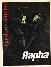 PUBLICITE ADVERTISING 124  1959   RAPHA   vindoux naturel