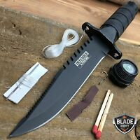 """8.5"""" Tactical Fishing Hunting Survival Knife w/ Sheath Bowie Survival Kit Combat"""