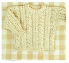 Knitting pattern Baby / child sweater, Jumper, pullover in DK. Cable. 7 sizes