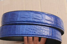 Light Blue Genuine Alligator ,Crocodile Belly Leather Skin Men's Belt