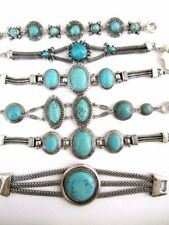 Handmade Turquoise Tibetan Silver Costume Bracelets