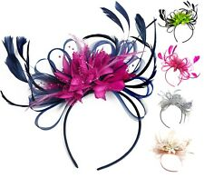 Customised Feather Hair Fascinator on Headband Wedding Royal Ascot Races Bespoke