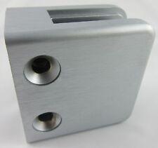 flacher Anschluss Zinkdruckguss Edelstahleffekt f/ür 12,00mm Glas Glasklemme Modell 13
