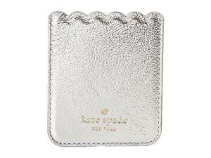 Kate Spade New York 256540 Metallic Scallop Platino iPhone Sticker Pocket 2.5x3