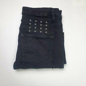 "Ksubi Jeans - Chitch Chop Ace - Black - 29"" Waist - Button Fly"