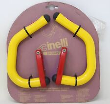 CINELLI SPINACI BAR EXTENSIONS AERO BULLHORN 90S VINTAGE YELLOW RED NOS