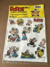 Vintage 1985 Ja-Ru King Features Popeye Puffy Stickers New