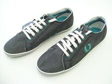FRED PERRY MENS CASUAL CANVAS DRESS SHOES SNEAKERS SIZE 8