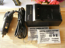 2 EN-EL5 ENEL5 Batteries & Charger for Nikon Coolpix P80 P90 P100 p500 P510 P520