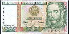 Perú 1000 Intis 1988 billete * B 1819131 * FMAM * P-136 *