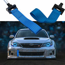 Blue JDM Style Towing Strap Tow Hole Adapter For Subaru BRZ WRX STi 2013-2018