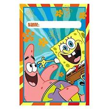 8pc Spongebob Square Paants Treat Favor Birthday Party Loot Candy Gift Bags
