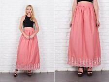 Cotton Blend Long Regular Size Peasant, Boho Skirts for Women