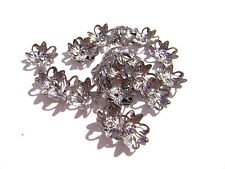 9514FX Bead Cap, Cup, Gunmetal plated Brass, 10mm, Filigree Leaf, 100 Qty