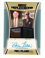 TNA Ric Flair 2012 Reflexxions Autograph Dual BLUE Suit & Tie Relic Card SN 5/25