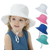 Summer Kids Baby Boy Hat Outdoor Bucket Hat Cap Breathable Quick-drying Beach