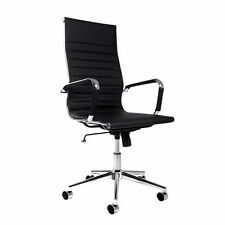 eames replica black pu leather high back executive computer office chair