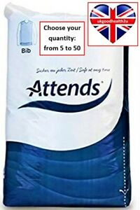 Attends Disposable Adult Bibs CONVENIENT QUANTITIES Brand New CE Certified