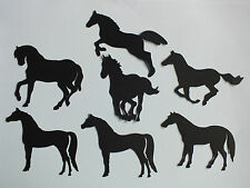9 HORSES & UNICORNS BLACK DIE CUTS CARD MAKING WEDDING CONFETTI + VINYL