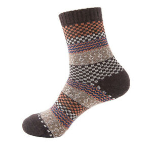 Men Wool Cashmere Socks, Small Thick Warm Coffee For Winter Hiking Cold