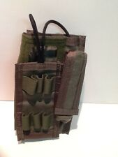 Pre-MSA Paraclete MBITR radio pouch Smoke Green, never issued !! New !
