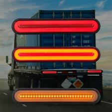 2X Neon 100 LED RV Trailer Truck Stop Flowing Turn Signal Brake Rear Tail Light