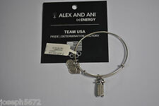 Alex and Ani Rafaelian Silver Sled Bracelet Team USA NWT