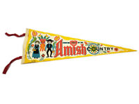 """From the Heart of Amish Country Vintage Souvenir 25"""" Pennant"""