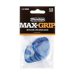 PACK OF 12 DUNLOP MAX GRIP NYLON STANDARD 1.5mm PLECTRUMS PICKS Free Shipping UK
