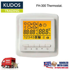 Electric Programmable Digital Thermostat For Electric Under FloorHeatingLCDWhite