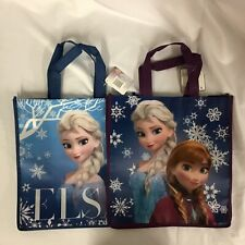 2 New Disney Reusable Frozen Totes GIFT BAGS Princess Elsa Anna Sisters