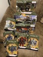 Halo Infinite Series 1 Lot Of 8 Sets, Ghost, Warthog, Mongoose 8 Figures All New