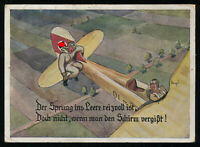 WW2 WWII Germany 3rd Reich Picture Postcard Cover German Hitler Luftwaffe Humor
