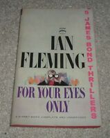 1964 FOR YOUR EYES ONLY James Bond 007 Thriller Ian Fleming BARYE w/5 Expliots