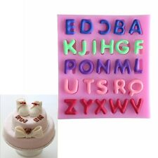 3D Silicone Letter Alphabet Cake Mold Fondant Mould Sugar Craft Candle Tool