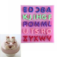 Silicone Alphabet Letter Trays Chocolate Mold Cake Fondant Decorating Tools
