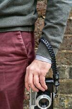 Braided leather camera wrist strap