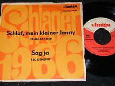 HELGA BRAUER Schlaf, mein kleiner Jonny & REC DEMONT../ DDR SP 1966 AMIGA 450566