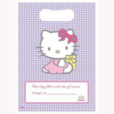 HELLO KITTY BIRTHDAY PARTY LOOT LOLLY BAGS PK8 NEW!