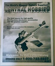 RC Model Airplane F3A Pattern Vintage Central Hobbies Catalog 1999