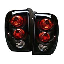 Chevy 02-09 TrailBlazer Black Euro Style Rear Tail Light Brake Lamp Set