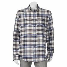 Men's Croft & Barrow  Flannel Shirt  XXL 2XL  100% Cotton New NWT Priority Ship