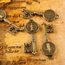 5 Antique Vintage Style Bronze clés Charms Pendentif 015