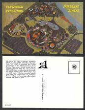 Old Alaska Postcard - Fairbanks - 1967 Centennial Exposition - Artist Sketch
