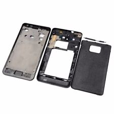 Full Samsung Galaxy S2 i9100 Full Front+Middle+Back Cover Housing  Black)