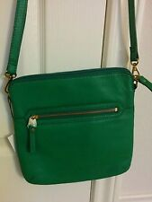 $168 NWT Fossil Marin Crossbody Handbag Leather Purse Malachite Green NEW Bag