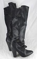 Charlotte Russe  Black Knee High Boots High Heels Size 9