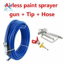 3600PSI Airless Paint Spray Gun w/ 517 Tip and Sprayer Hose Flexible Fiber 26Ft