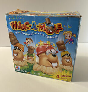 Whac-A-Mole Game by Milton Bradley - 2004 Ed - Complete/Tested/Works - Ages 4+