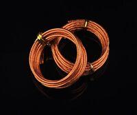 2Rolls(4meters) 12Gauge 2.0mm Carved Aluminum Wrap DIY Craft Finding Wire Orange